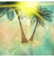 Seaside view poster Geometric abstract vector image vector image