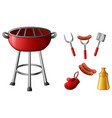 set of barbecue tools isola vector image