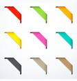 set of corner ribbons vector image vector image