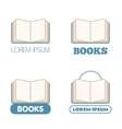 Set of open book icons vector image vector image