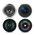Set of Photo Lens isolated on white background vector image