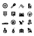Silhouette Car and transportation icons vector image vector image