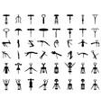 silhouette corkscrew vector image