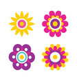 springtime flowers cartoon vector image vector image