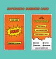 superhero bold business card template vector image