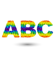 triangular letters abc vector image vector image