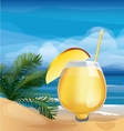 Tropic exotic cocktail on ocean beach vector image vector image