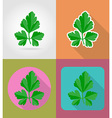 vegetables flat icons 03 vector image vector image