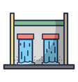 water tank to reserve and ecology care vector image