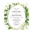 wedding floral greenery invitation invite card vector image vector image