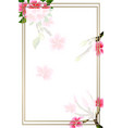 wedding invitation card floral plumeria frame and vector image