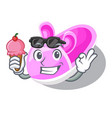 with ice cream shoes baby above the character rak vector image