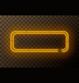 yellow neon rectangle frame template vector image