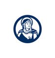 Blessed Virgin Mary Circle Retro vector image