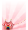 A stationery with a circus tent design vector image vector image