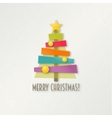 Abstract colorful Christmas tree Greeting card vector image