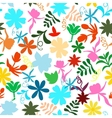 abstract seamless pattern with isolated flowers vector image vector image