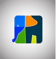 artistic elephant shape icon vector image vector image