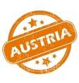 Austria grunge icon vector image vector image