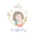 beautiful mother breastfeeding her baby child vector image