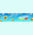 biggest summer sale creative banner with flying vector image vector image