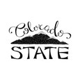 black and white colorado state vector image