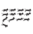 Black Cat Jumping Sprite vector image vector image