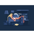 Blond woman relaxing vector image vector image