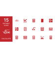 calculate icons vector image vector image