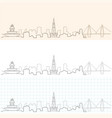 charleston hand drawn skyline vector image vector image