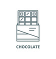 chocolate line icon chocolate outline vector image