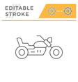 chopper motorcycle line icon vector image vector image