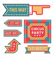 circus vintage signboard labels banner vector image vector image