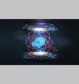 coronavirus 2019-ncov virus hologram of vector image