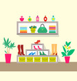 cute store with pretty interior colorful poster vector image vector image