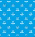designer shop pattern seamless blue vector image vector image