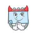 devil calendar mascot cartoon style vector image