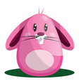 easter rabbit with big eyes and whiskers in pink vector image vector image