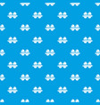 eggs pattern seamless blue vector image