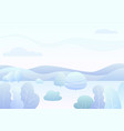 fantasy simple winter forest landscape vector image
