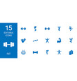 fit icons vector image vector image