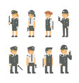 flat design polices set vector image vector image