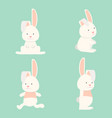 flat funny bunny collection vector image vector image
