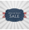 Fourth of July Sale Holiday Badge vector image vector image