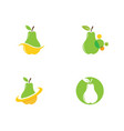 fresh pear fruit food vector image