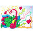 fun graffiti vector image