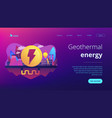 geothermal energy concept landing page vector image vector image