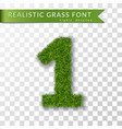 grass number 1 green number one isolated on vector image vector image