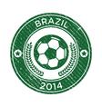 Grunge Soccer Brazil Emblem vector image vector image