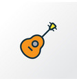 guitar colorful outline symbol premium quality vector image vector image